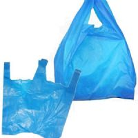 Blue Plastic Vest Carrier Bags Large 11x17x21""